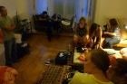 Our Hostel room in Budapest